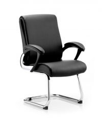 Contemporary leather conference chair
