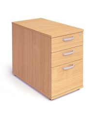 Beech desk high 800 deep pedestal