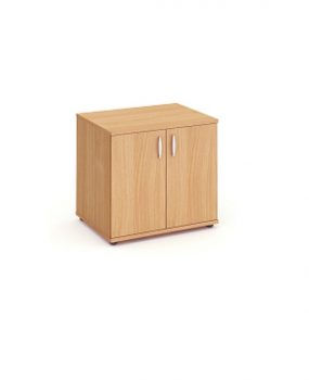 Beech desk high cupboard