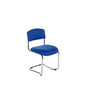 Chrome cantilever visitors chair