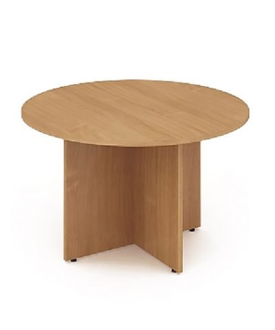 Beech 1200mm circular conference table