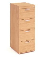 Beech four drawer filing cabinet