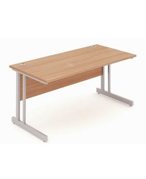 Beech rectangular workstation
