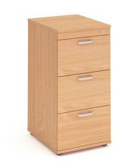 Beech three drawer filing cabinet