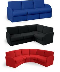 Block modular reception seating