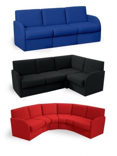 Block modular reception seating