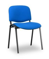 Padded steel framed stacking chair