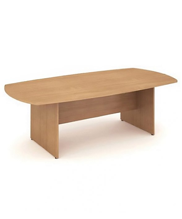 Beech 2400mm boardroom table 6-8 seater