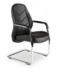 Cantilever faux leather boardroom chair