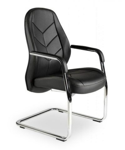 Cantilever faux leather boardroom/conference chair