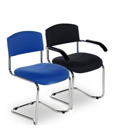 Chrome cantilever visitors chairs