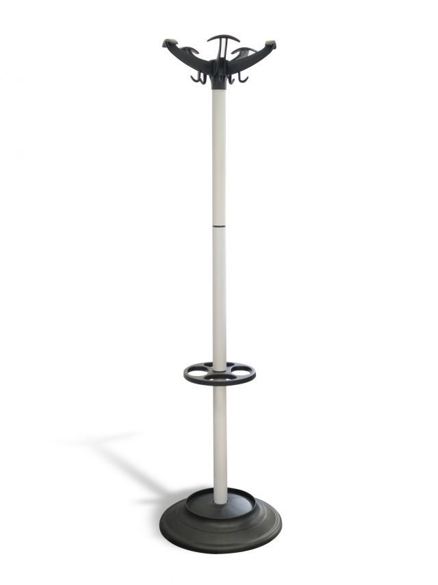 Hat and coat stand in light grey