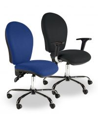 Round back operator chairs