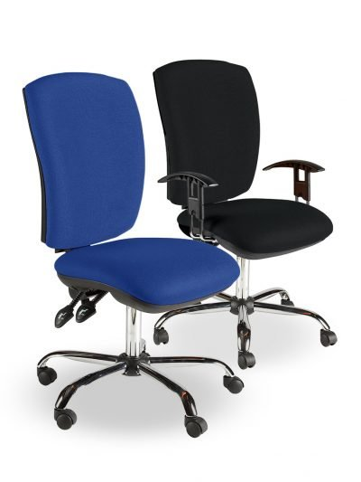 Square back operator chairs