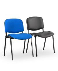 Padded steel frame stacking chairs