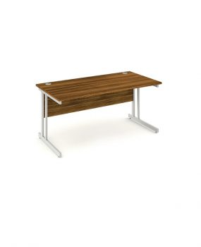 Walnut straight 1600 desk