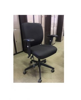 Black operators chair with arms