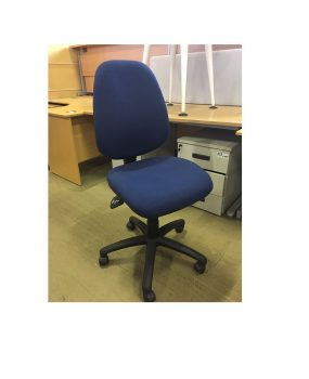 Blue operators chair