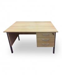 Light oak 1200 single pedestal desk
