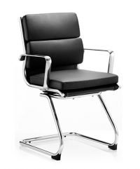 Savoy cantilever bonded leather chair