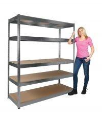 5 Shelf racking unit 1600 width