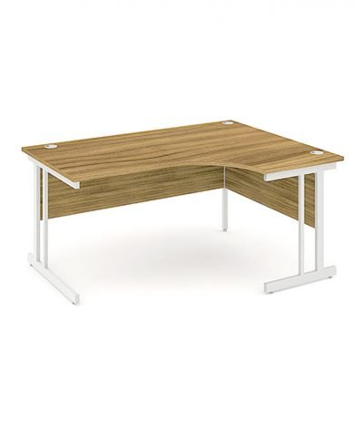Walnut 1600mm corner workstation
