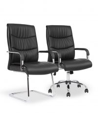 Carter luxury faux leather chairs