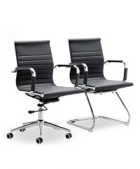 Cross executive/cantilever chairs