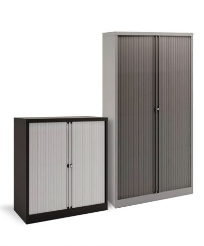 Bisley sliding double door stationery cupboards