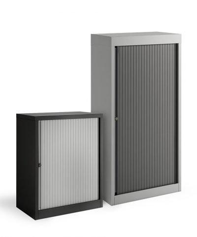 Bisley sliding single door stationery cupboards