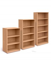 Beech 800mm wide bookcases