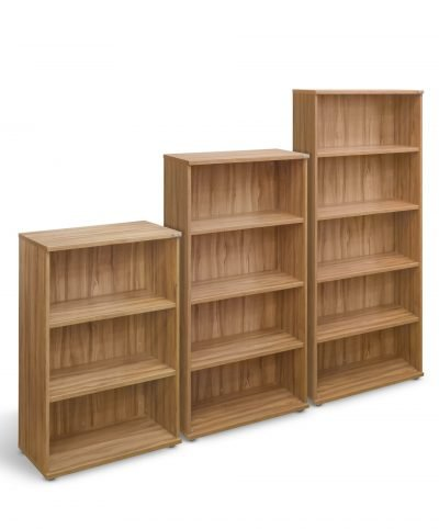 Walnut 800mm wide bookcases