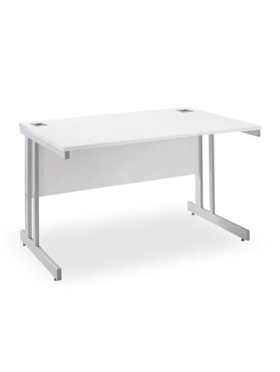 White rectangular workstation