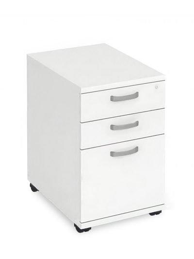 White under-desk mobile pedestal