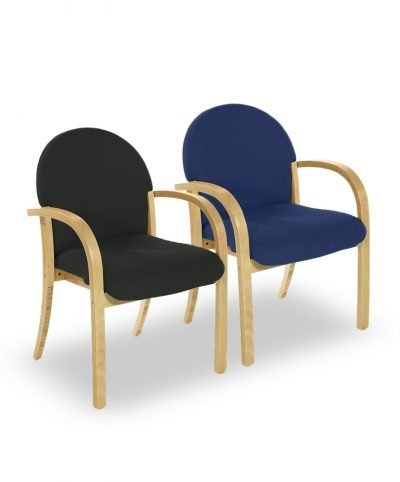 Miller wood framed conference chairs