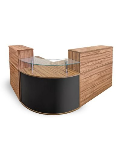 Lakewood walnut reception desk