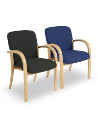 Beech conference armchairs