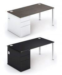 Rectangular combi workstation with built-in storage