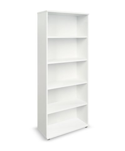 White 2000mm high bookcase