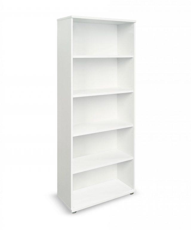 White 2000mm high bookcase