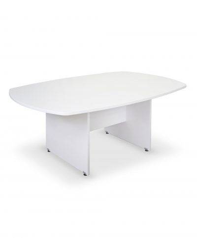 White 1800mm boardroom table 4-6 seater