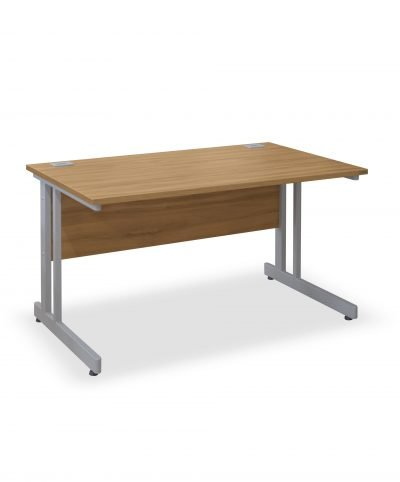 Walnut rectangular workstation