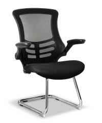 Black mesh visitors chair