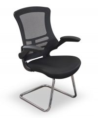 Black mesh visitors chair