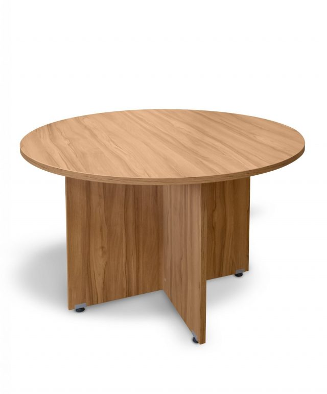 Walnut 1200mm circular conference table
