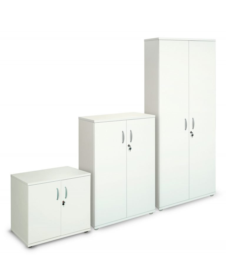 White 800m wide cupboards