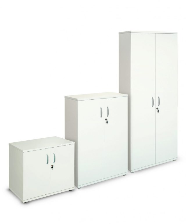 White 800mm wide cupboards