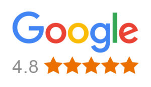 Proudly rated 4.8 out of 5 on Google