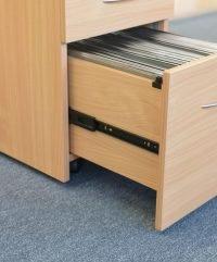 Gravity A4 pedestal - file drawer close-up