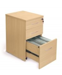 Gravity A4 pedestal with open drawer